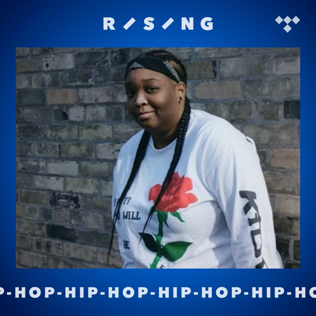"""Replying to @DijahSB: s/o to @TIDAL for making me the cover of their """"rising, hip hop"""" playlist 🤠❤️"""