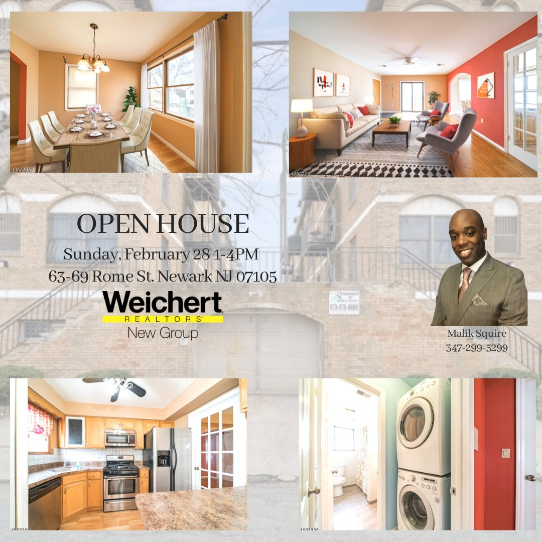 Come visit Malik at our open house on 63-69 Rome St. Newark NJ ! #openhouse #condoforsale #sunday #ironbound