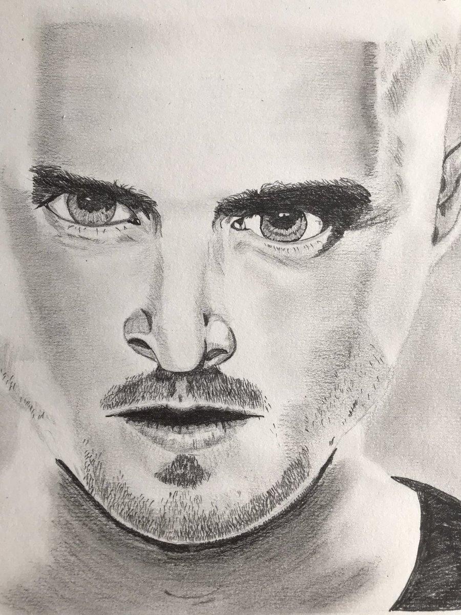 Today's sketch. Loving my #newhobby @aaronpaul_8 @BreakingBad #breakingbad #aaronpaul #jessepinkman #sketching #drawing #art