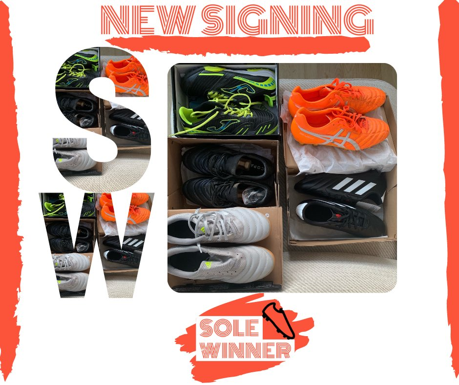 A big thank you for donating-we cant wait to find some feet for these ones. @willpattison95 @pippaturnpenny   To donate used boots get in touch with us. Email: project.solewinner@gmail.com or call 07799964920 #football #footballboots #solewinner #free #newsigning