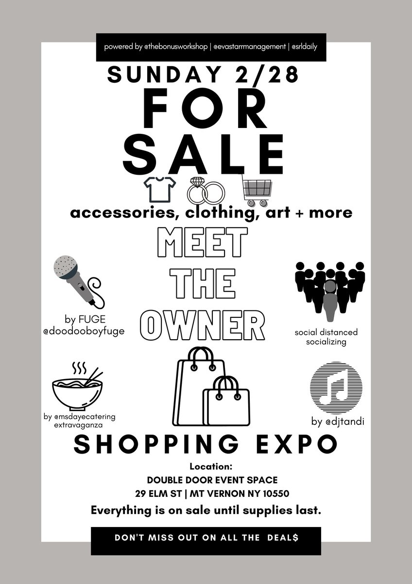 : this #SUNDAY  we invade our backyard #914Ny w/ a few groovy brands and the bosses of em.. #MEETtheOWNER 12-4pm