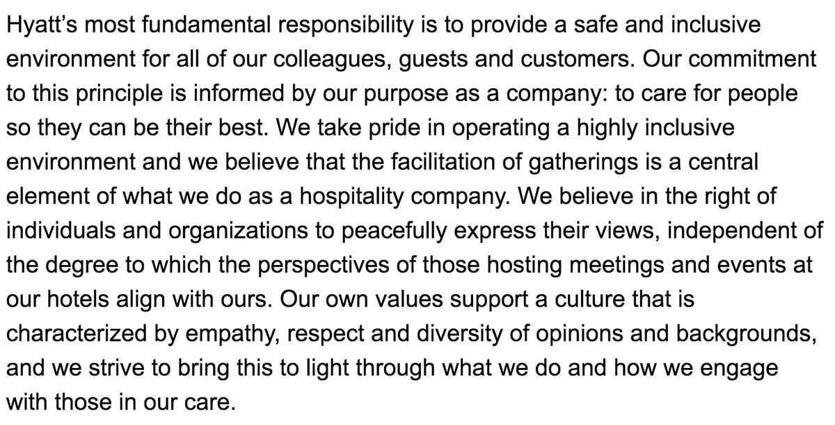 NEW: @Hyatt spokesperson emailed me this statement about Hyatt Regency Orlando hosting CPAC 2021. #CPAC2021 https://t.co/OLNeDHrKpv