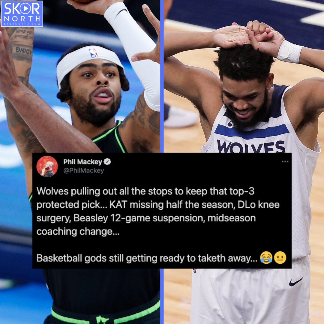 #Timberwolves pulling out all the stops to keep the top-3 protected pick!  Basketball gods: Not so fast... 😭