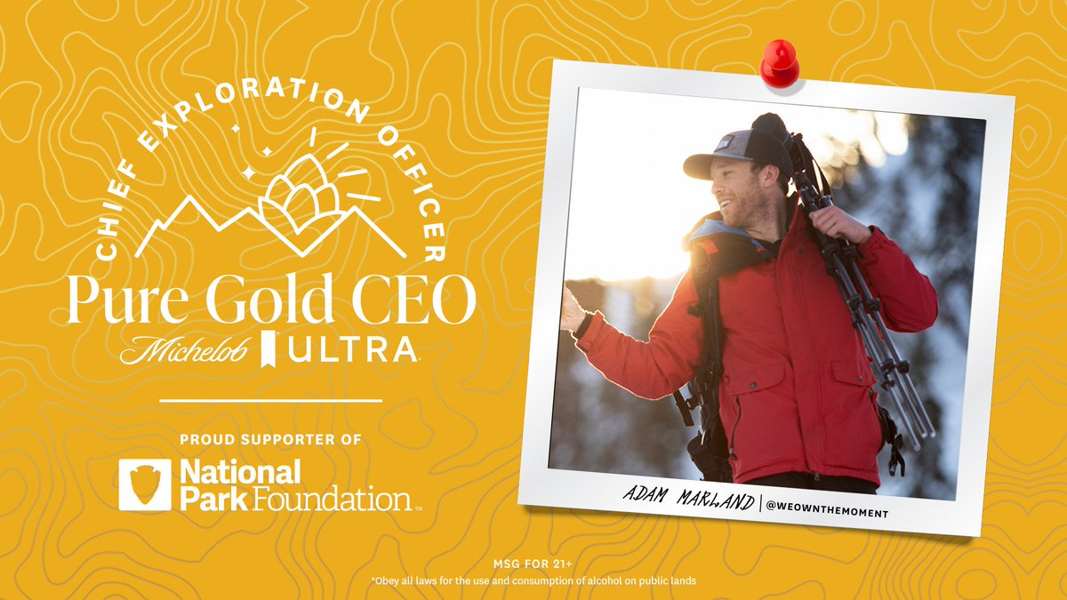 The hunt for the #PureGold Chief Exploration Officer is over. Our CEO is Adam Marland! He'll be joined by his partner Sophie, spending 6 months responsibly exploring our national parks & living the dream. Follow their journey on IG. Special thanks to our partner @NationalParkFdn