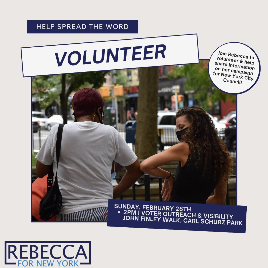 We're hitting the streets this weekend to prepare for petitioning! Can you #volunteer some time and help our campaign? We'll be out both #Saturday and #Sunday speaking with neighbors, info below👇  #UpperEastSide #NYC #CripTheVote #RebeccaForNewYork