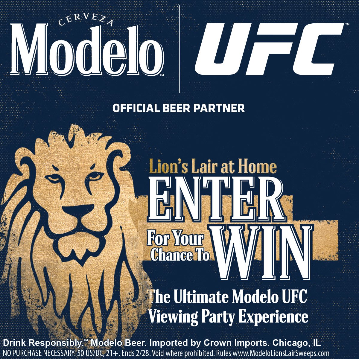 Enter the @ModeloUSA Lion's Lair at Home Sweepstakes for a chance to win the Ultimate Modelo UFC 259 Viewing Party Experience, including a virtual meet and greet with ME on fight night! #ad NO PURCHASE NECESSARY. 50 US/DC, 21+ Ruleshttps://t.co/IEidqDfqJB https://t.co/ElrHuhPBQW