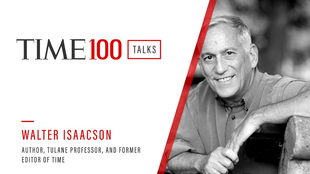Join us for a live #TIME100Talks featuring Walter Isaacson (@WalterIsaacson) in one hour. Register now: https://t.co/5rd8cDwS22 https://t.co/N8JgSmaqgJ