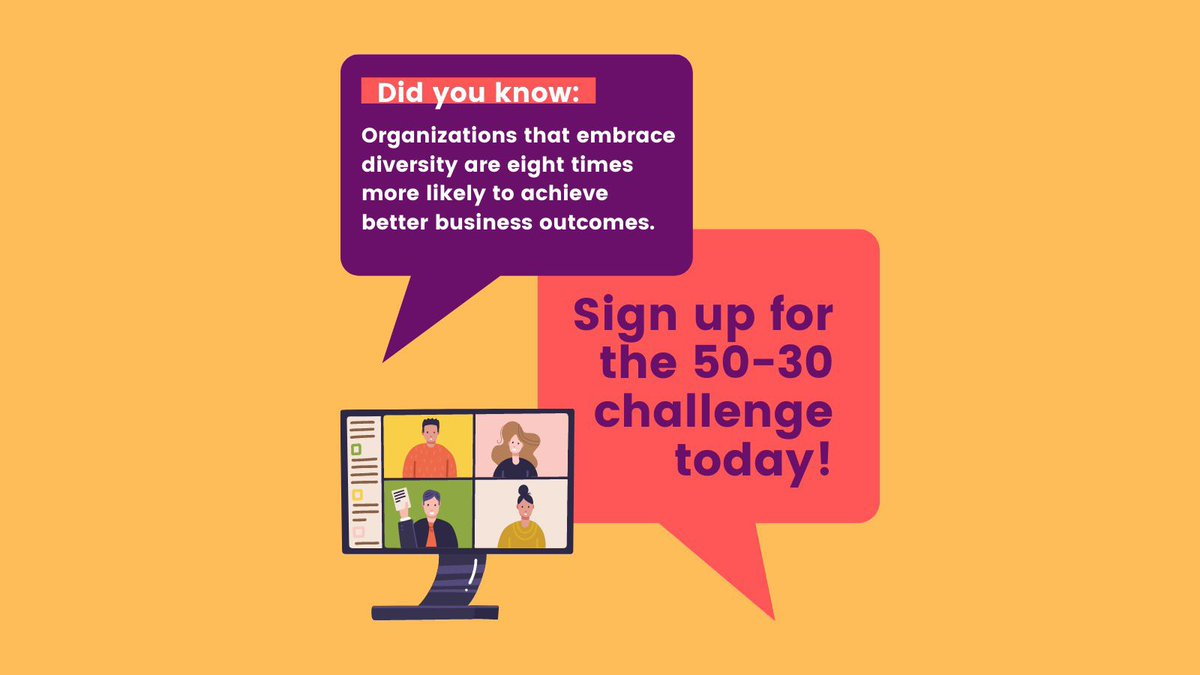 Last November, we launched the #5030Challenge - a framework to increase diversity and equity in senior management roles. Over 700 organizations in 🇨🇦 have already signed up - and you could be next! To learn more and #takethechallenge ➡️