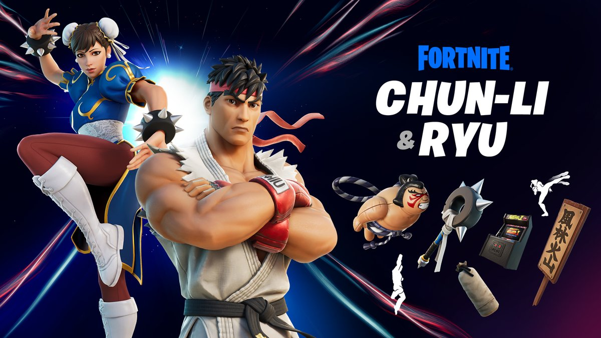Get back out there... and FIGHT!  Grab the Ryu and Chun-Li Outfits, along with the rest of the Street Fighter Set before   they rotate out of the Shop 👊  More info: