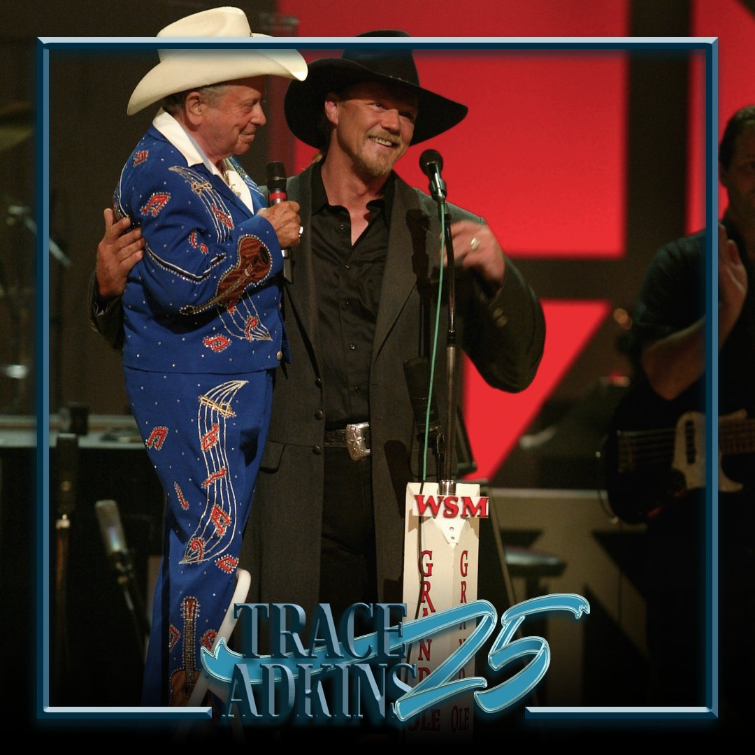 Today's #Trace25 memory is from June 14, 2003 when Trace was invited to officially join the Grand Ole Opry. Trace was inducted later that year on August 23rd.