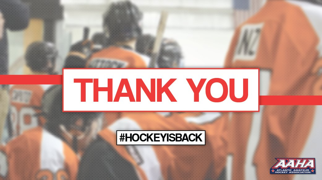 We're excited to see more players and families back at the rink. We know it isn't perfect. We extend a huge thank you to every rink employee, coach, referee, and team volunteer who continues to adjust in these conditions.  Thank you for your dedication to our sport. #HockeyIsBack
