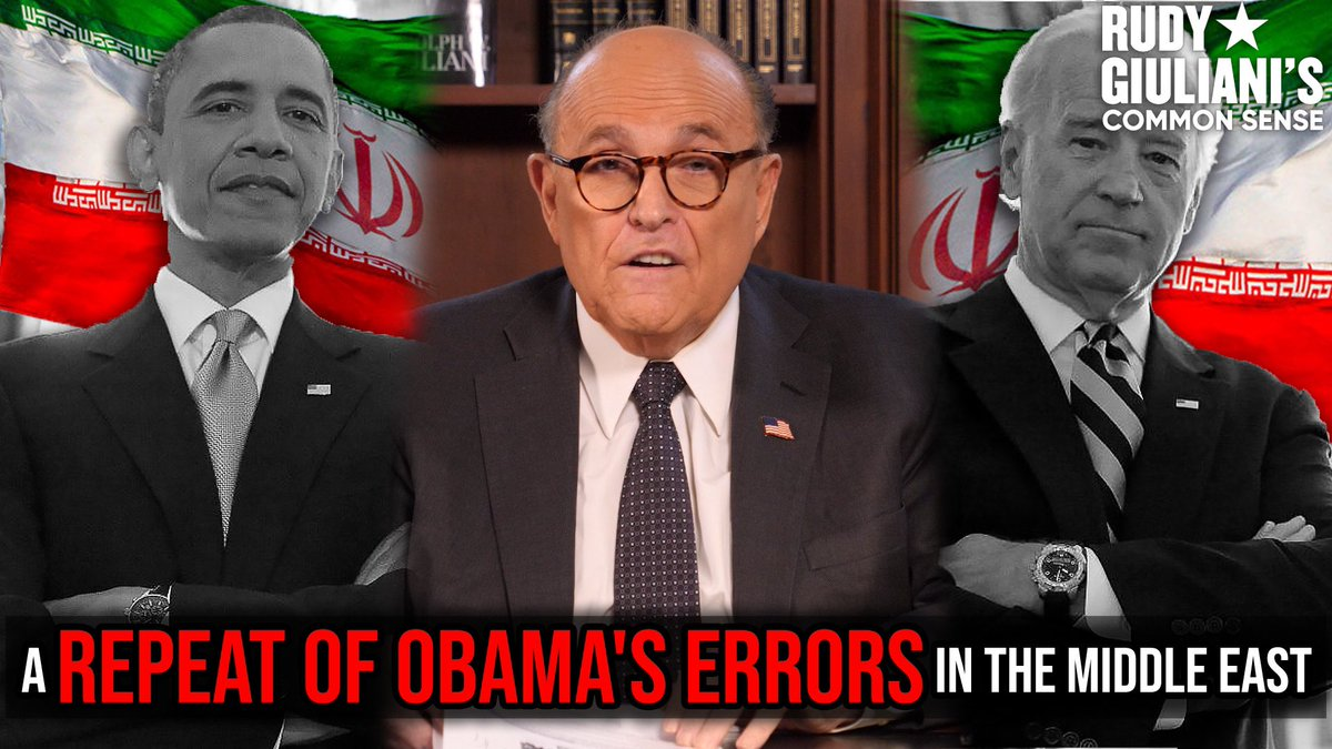 IRAN DEAL: A Repeat Of Obamas Errors In The Middle East Rudy Giuliani's analysis, HERE: rumble.com/ve751p-iran-de… #Iran #Irandeal
