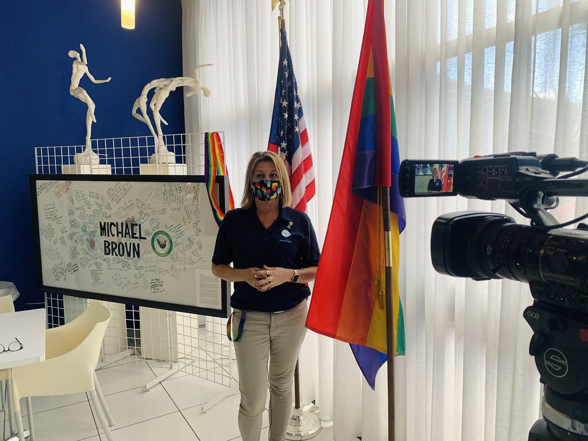 Thank you to @JoshNavarroTV of @WPTV for today's interview with our ED Julie Seaver about the #EqualityAct and what it means for the LGBTQ+ community!  #Equality