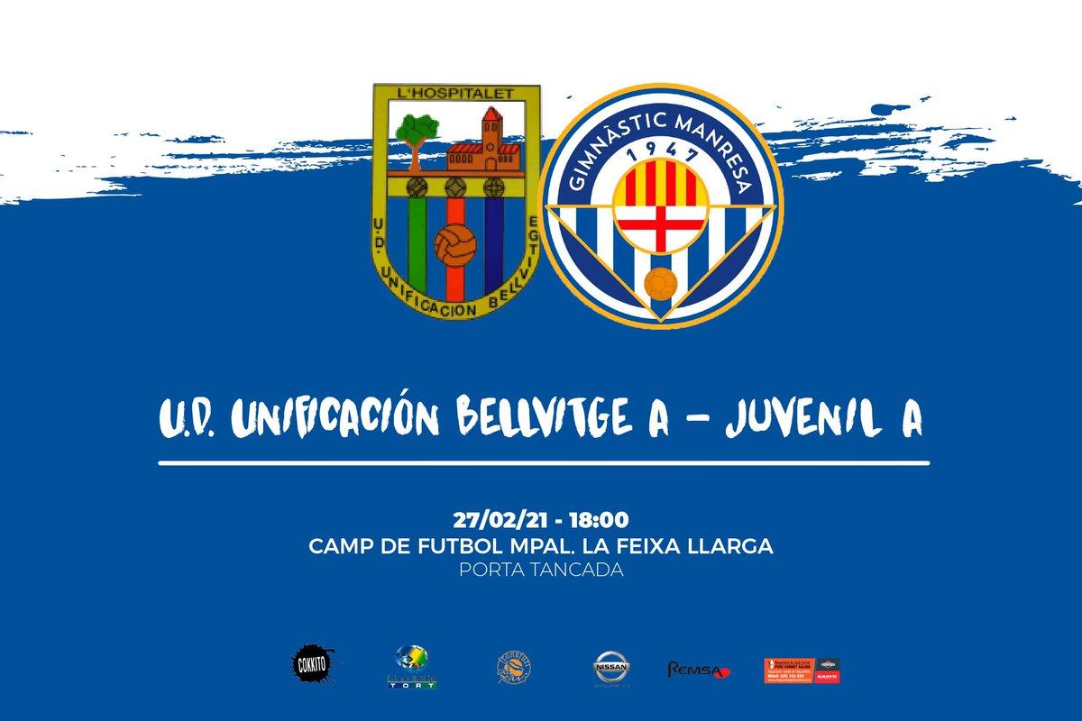 🔵⚪️ Jornada 1️⃣6️⃣ ⚽️ Lliga Nacional Juvenil 🆚 @UniBellvitge A 📆 dissabte 27 de febrer ⏰ 18:00 🏟 Camp de Futbol Municipal La Feixa Llarga 🚫 Porta tancada 📺 En directe per  · #SempreEndavant #MésViusQueMai
