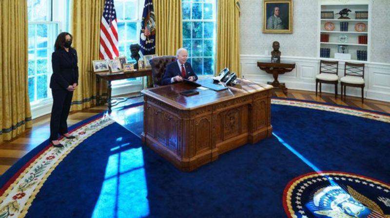 Joe Biden's Oval Office contains an extraterrestrial object from 1972 #Aliens #JoeBiden #Life #Science