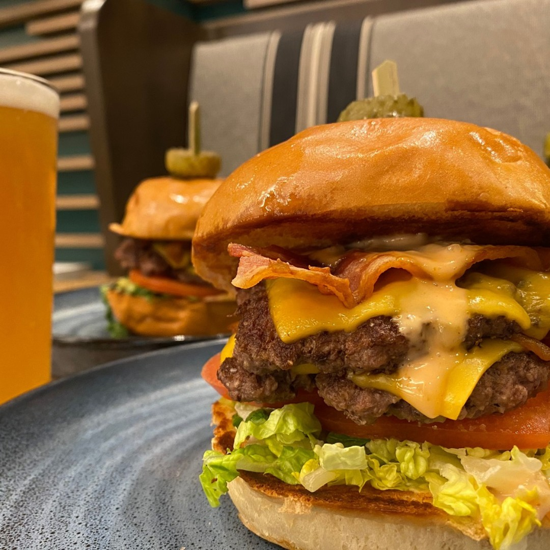 San Antonio #BurgerWeek is here. #Tributary at the #SAMarriottRivercenter is offering an epic #Burger for the occasion. @safoodbank #fundraiser