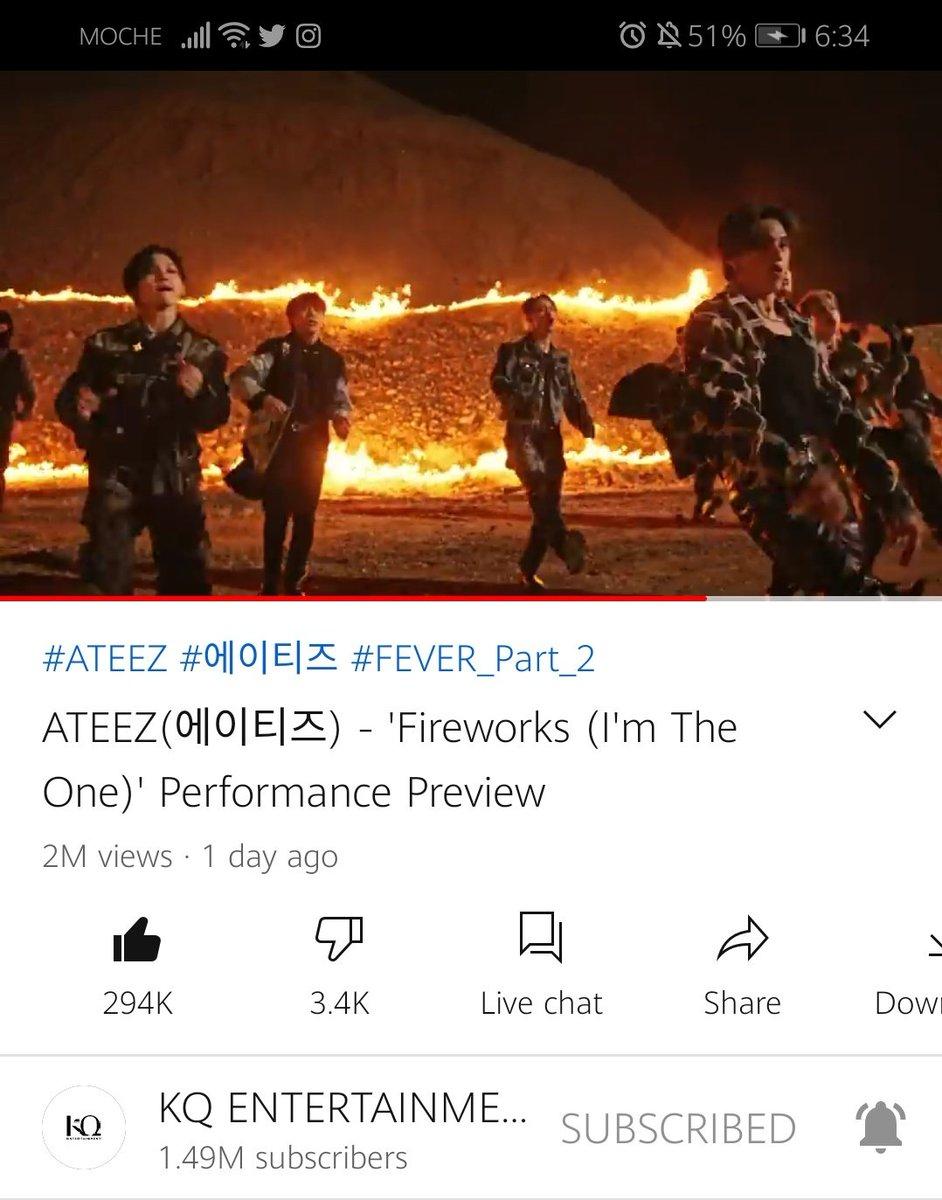 ATEEZ - 불놀이야 (I'm the one) 2 Million Views!!! 🎉 ⠀ #FEVER_Part_2 #불놀이야 #Fireworks #ATEEZ #에이티즈