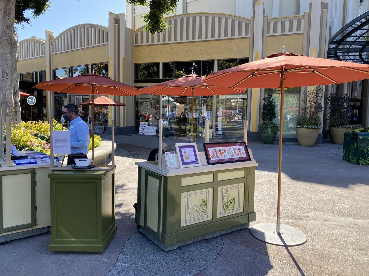 Letter brush art is now available at Downtown Disney District