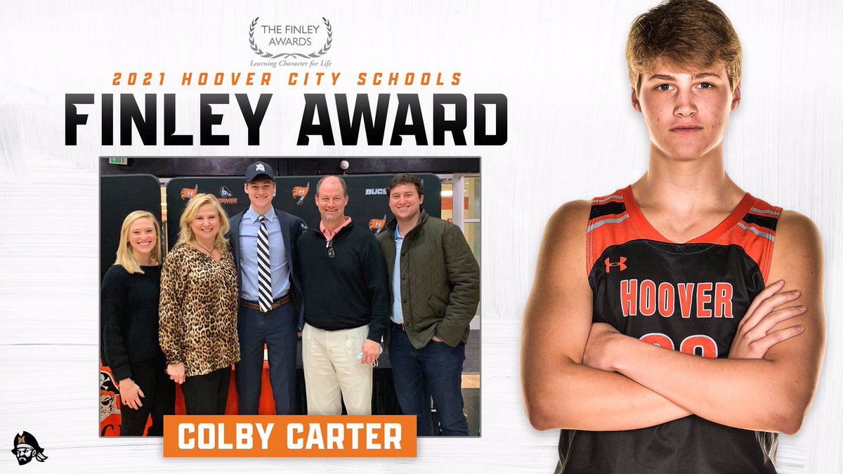 Congratulations to Colby Carter, our Hoover High senior Finley Award for excellent character. Colby walks the walk!! #HooverPride #HCSstrong