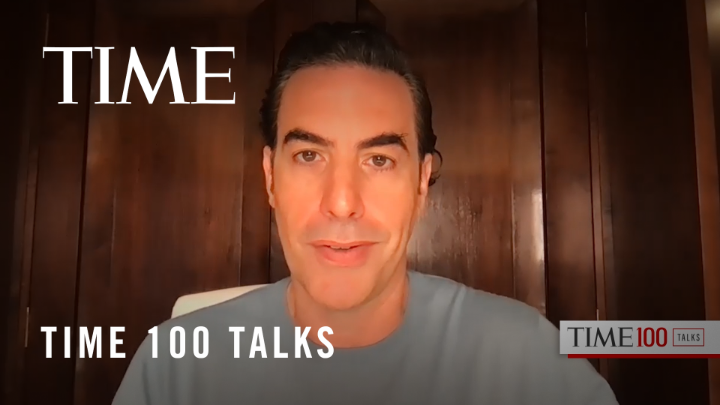 "Watch: @SachaBaronCohen shares his journey on becoming Abbie Hoffman in the film ""The Trial of the Chicago 7"" #TIME100Talks https://t.co/V7QfBV96xP"