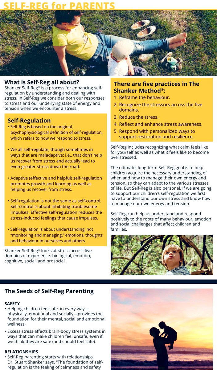 StuartShanker: RT @TCDSB_Psych: #FridayVibes ➡️  contains a collection of Self-Reg resources for parents. You will find courses, groups, and online communities where you can connect with other parents. Thanks @Self_Reg for this am…