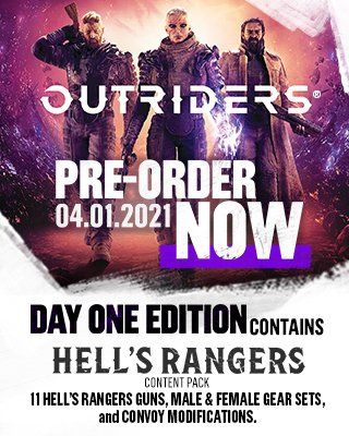 Going live now playing the new #Outriders demo!  It's a dark sci-fi RPG looter shooter with crossplay supporting PC, Xbox Series X/S, Xbox One, PS4/5    Want to pre-order it for some extra fancy stuff?     #sponsored