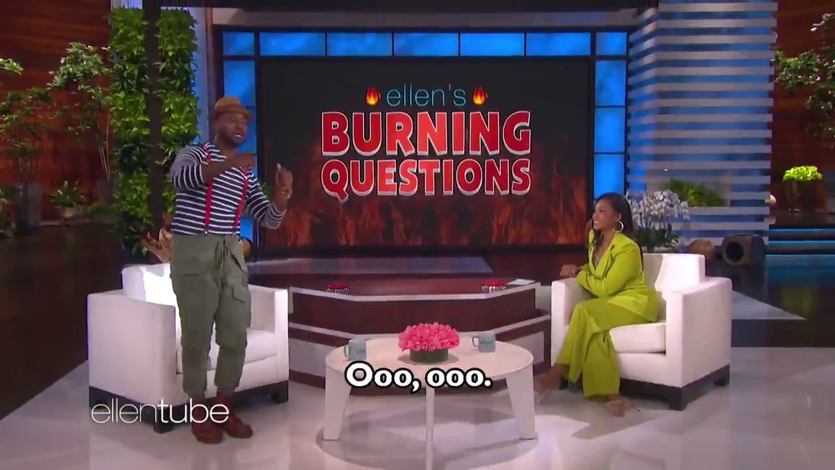 .@TiffanyHaddish asked @TayeDiggs some pretty racy stuff on today's show. So this is what goes on when I'm not around. #BurningQuestions