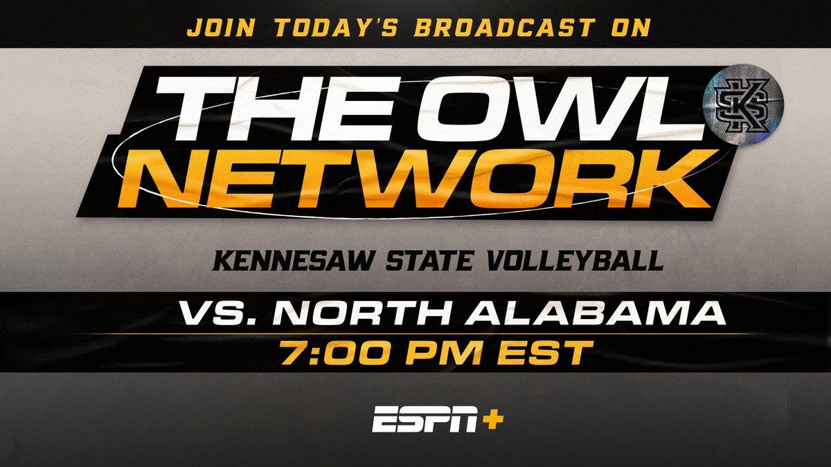 Let's GOOOOOO @KSUOwlsVB!  Catch the action on #ESPNPlus tonight!  #OneKS