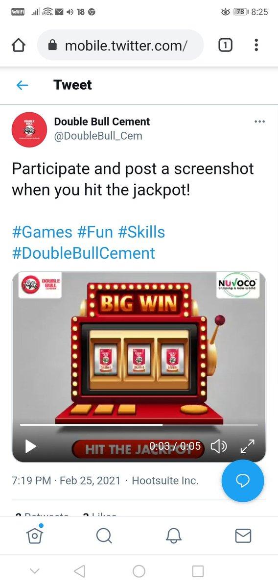 @DoubleBull_Cem Here's my perfect screenshot... Dear team  @DoubleBull_Cem  #Games #Fun #Skills #DoubleBullCement  @prem_archana @sarikag77 @Admire_Urself @cuteushakumari