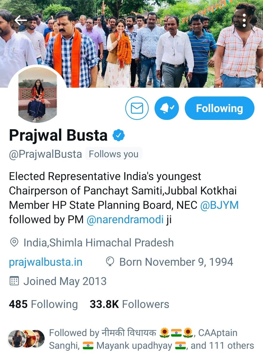 Thanks for the kind & humble followback @PrajwalBusta Mam 🙏😇 this is truly a #SaturdayMotivation to begin with your FB.Greatful 🙏🙏