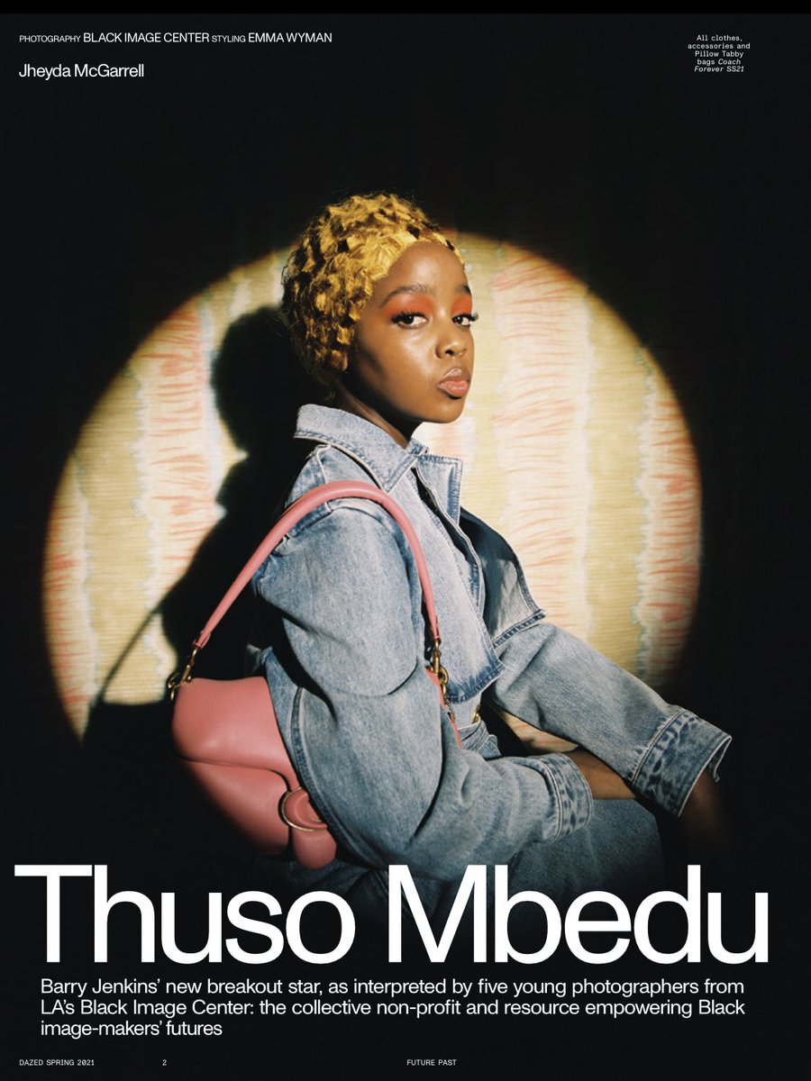 I sat down with Thuso Mbedo for @Dazed - the breathtaking lead in The Underground Railroad adaptation, directed by Barry Jenkins for the 📺   we spoke about so much: her path so far, white supremacy, the power of Black sci-fi, being the 'first' and more 🤍  out in print today !