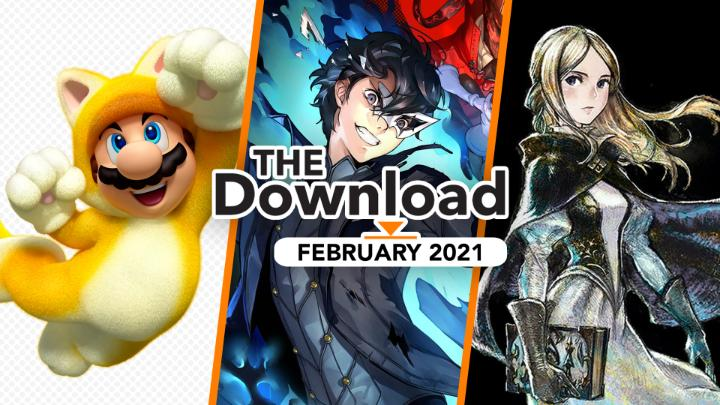 #SuperMario3DWorld + #BowsersFury, #BravelyDefault II, Persona 5 Strikers, and more recently released games are featured in this month's The Download! Which February release are you playing?