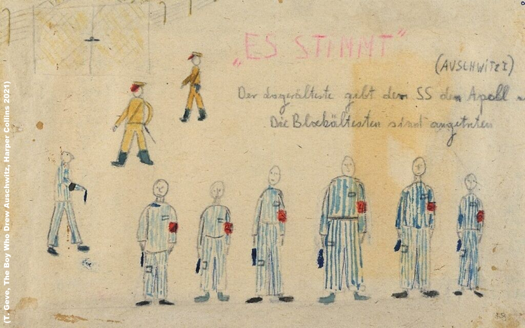 """A story (and visual document of the #Holocaust) as fascinating as hard to bear:  """"The Boy Who Drew Auschwitz"""" - How 13 y/o Thomas Geve was deported to #Auschwitz ... and the #sketches he made to cope with the inhumanity he witnessed.   via  @JewishNewsUK"""