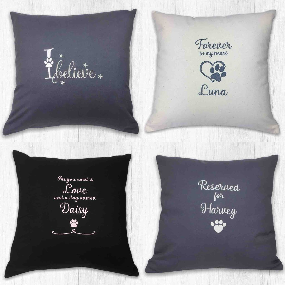 Have you sniffed out our Empawrium packed with  #doggy #gifts?  These #personalised #dog cushions make the pawfect accessory for your home      #inbizhour #dogsoftwitter