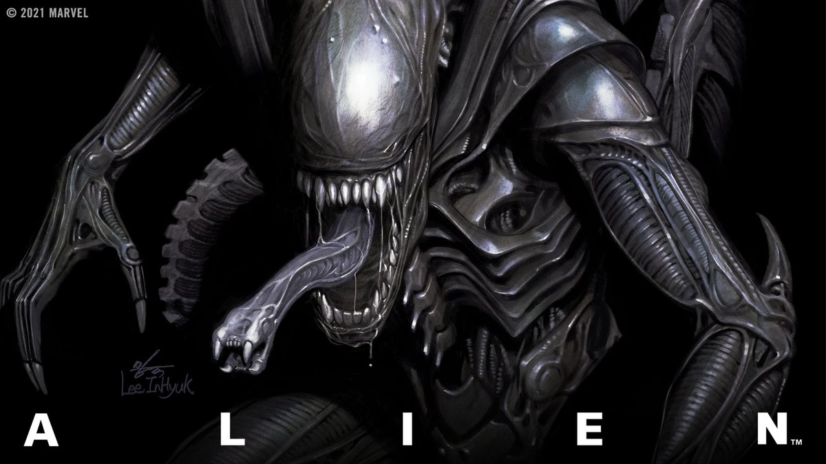 """No one is safe. No one is innocent. And no one can hear you scream. A cinematic horror icon makes its #MarvelComics debut in """"Alien"""" #1!   🌌:"""
