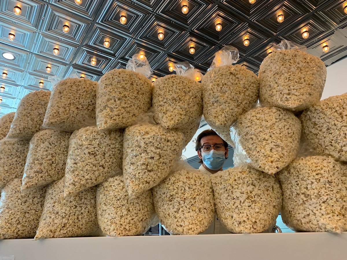 Popcorn is prepped for pickup! 🥰 You can still place an order and stock up on weekend snacks - order now at icfilmscene.org/kernels-for-ki… and $5 of your order supports the Beloved Community Initiative! @BecomingBC