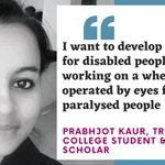Image for the Tweet beginning: Prabhjot Kaur, a @tcddublin student
