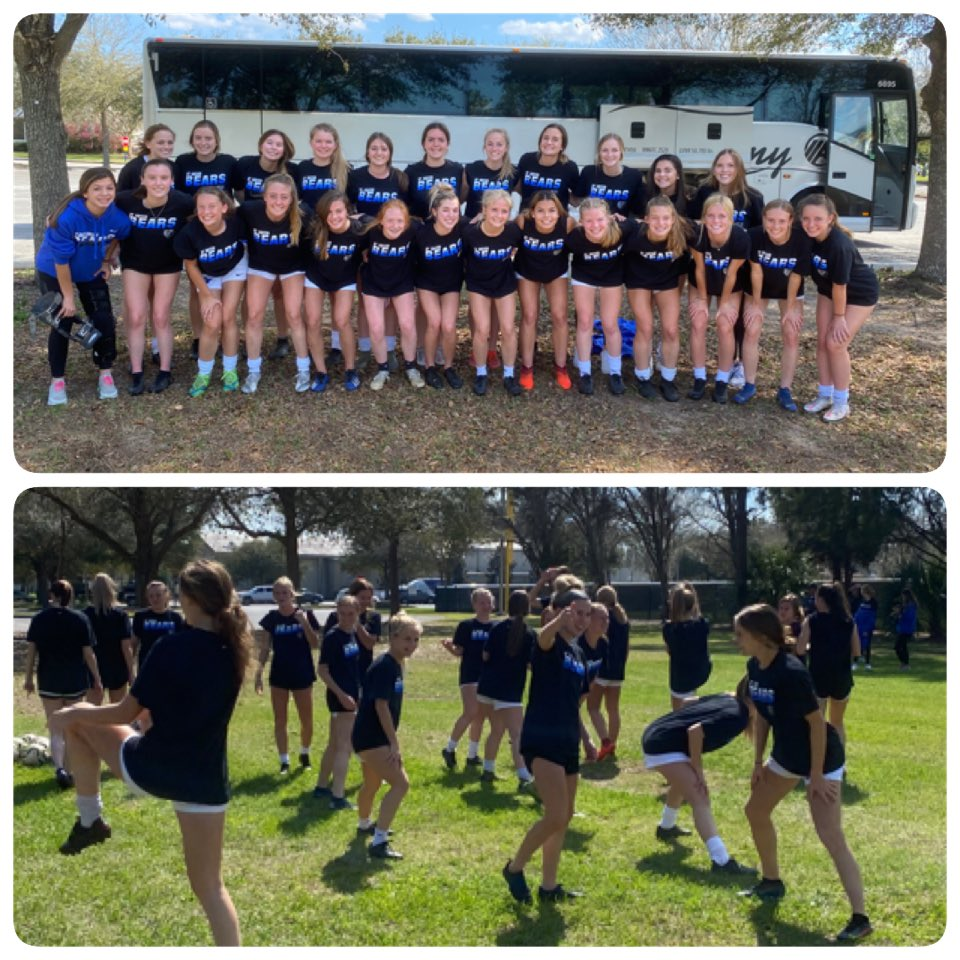 Quick stretch stop on our way to Tampa! Focused and ready #GoBears #FinalFour