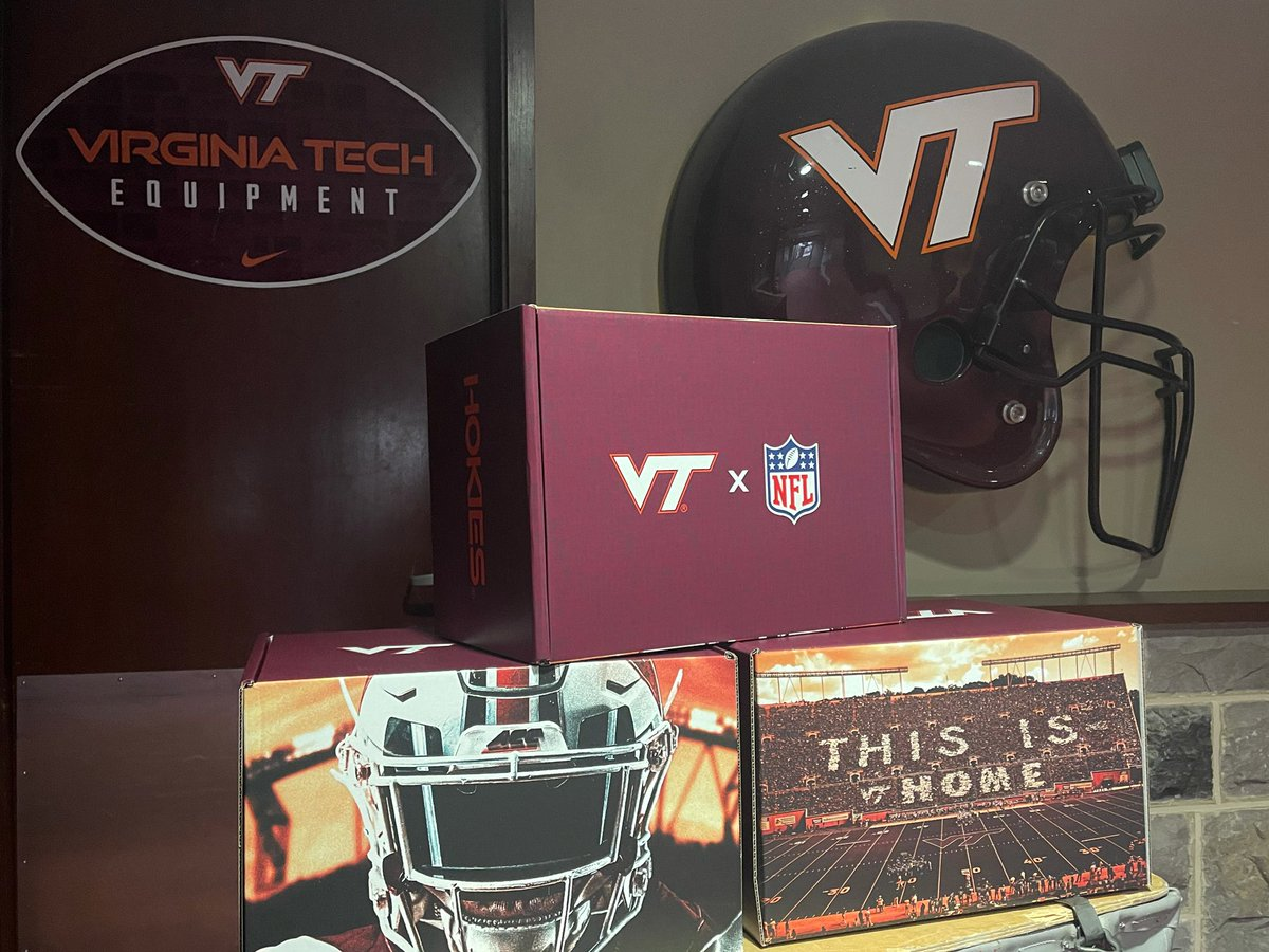 Care Package 🎁   Got a lil' something en route our three Tech alums on the World Champion @Buccaneers staff!   #Hokies 🦃 x #GoBucs