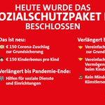 Image for the Tweet beginning: Mit dem Sozialschutzpaket III stellen