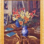 "Happy #NationaFloralDesignDay! This 1935 painting ""Summer Bouquet"" by Stephen Csoka is part of the GSA Fine Arts Collection. It is currently on display at Genesee Valley Council on the Arts. View more public works of art at https://t.co/U1HuMBT4kf"