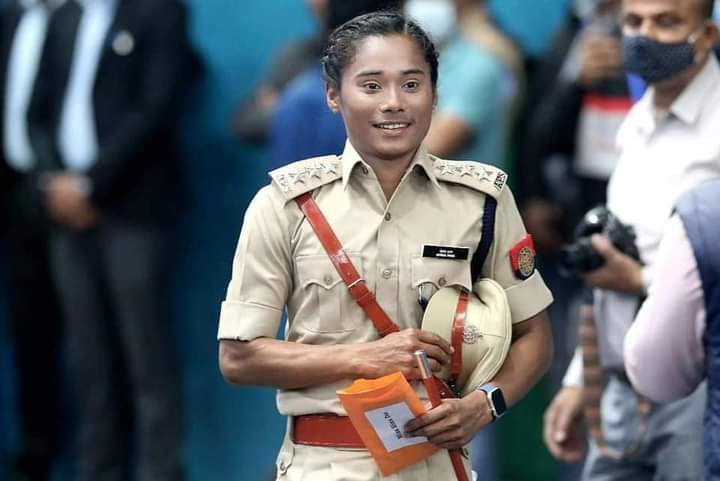 Congratulations @HimaDas8 for being appointed as Deputy Superintendent of Police, Assam. You are inspiration to all of us, keep up the good work champ. 🔰 #himadas #dhingexpress #policeforce #assam #assampolice #TeamIndia
