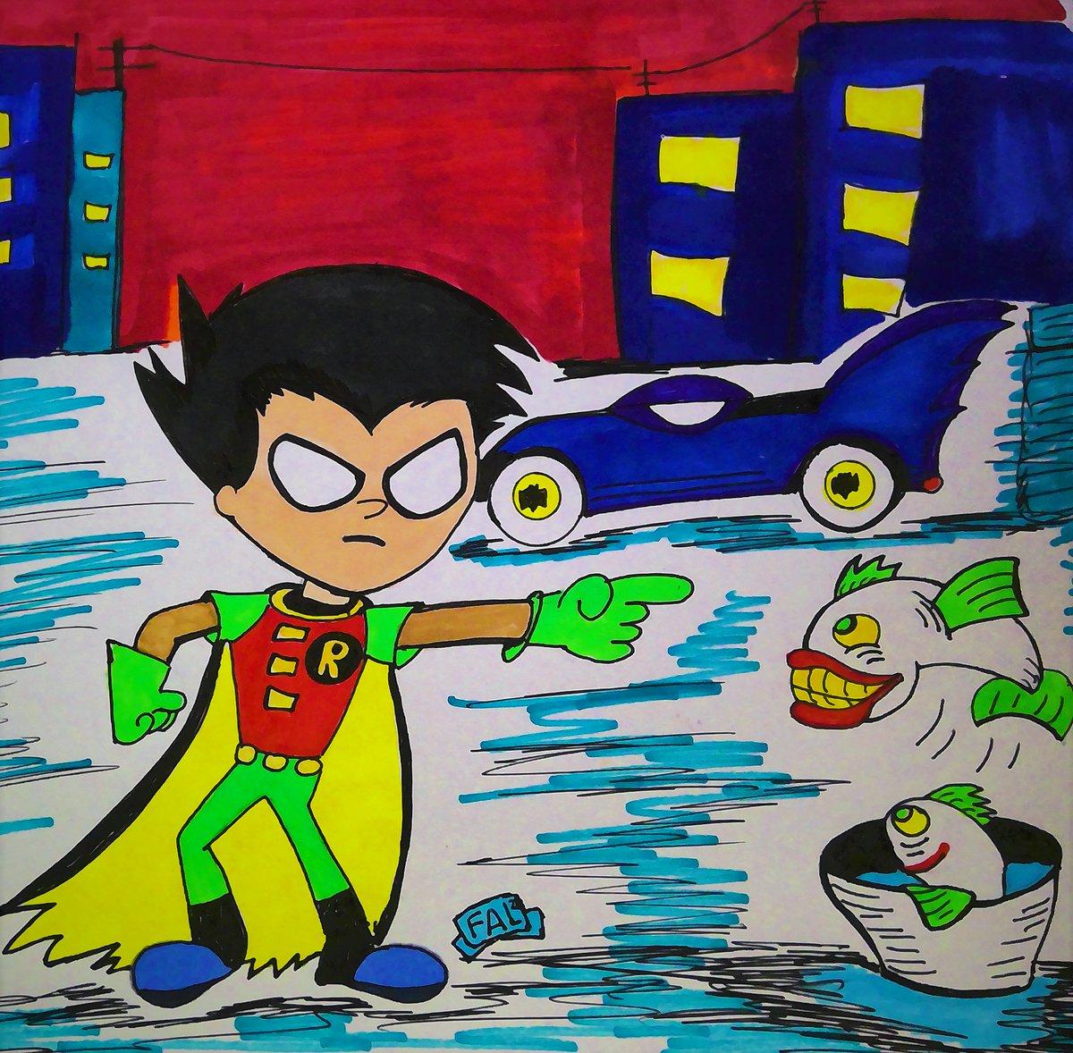 #robin #TeenTitans #DCEU  #frankyvegas #cartoons #CartoonNetwork #Joker #Batman  quick drawing for my little fans...