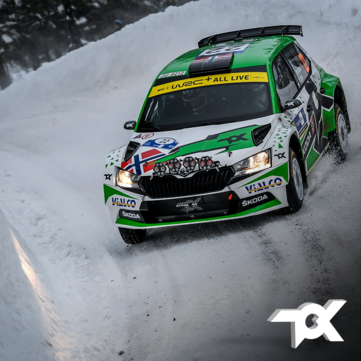 We finish Day 1 of Arctic Rally Finland with the two WRC2 cars in the Top 5 and Zaldivar running in P9 on his WRC3 debut ✔️ #WRC #Rally2 #SkodaFabiaRally2Evo #SkodaMotorsport #ToksportWRT @skodaautonews @MotorsportSkoda @OfficialWRC