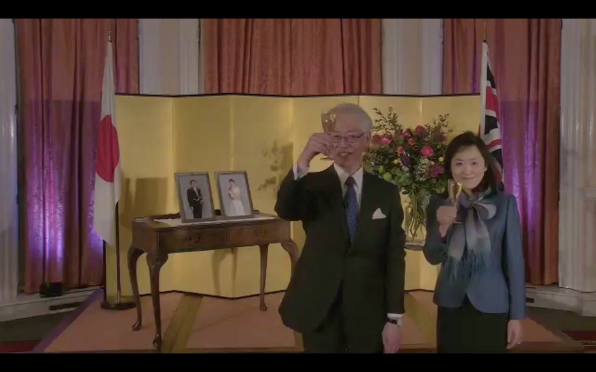 test Twitter Media - Lovely to meet (virtually) the new Ambassador of #Japan to the UK and Madame Hayashi at a creative programme to celebrate the Emperor of Japan's 61st birthday. We particularly enjoyed the sake masterclass! Raising a virtual toast to you both & all our friends at @JAPANinUK - 乾杯 https://t.co/WXOpbVkOwe