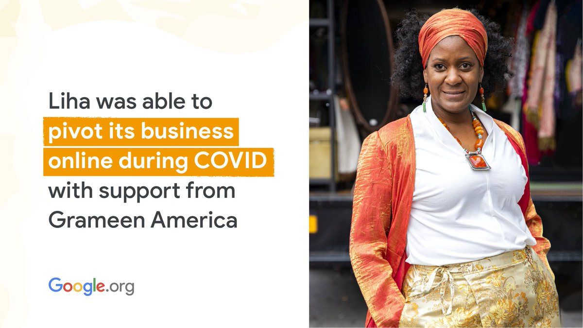 With support from the #GrowWithGoogle Small Business fund and #GoogleOrg, @GrameenAmerica supported Harlem mobile boutique owner, Sheila with funding to pivot her business online after #COVID19. Learn more: