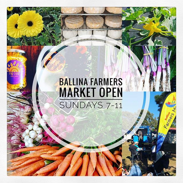 Weekend Farmers Markets in the Northern Rivers, Southern Gold Coast and hinterland  #farmersmarkets #shopfresh #buylocal #saturday #sunday #weekend #freshproduce  Images: courtesy Ballina Farmers Market, Nerang Farmers Market, Kyogle Farmers Market