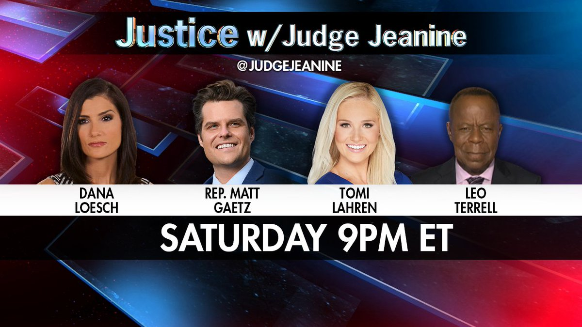TOMMORW NIGHT AT 9PM ET! @DLoesch @RepMattGaetz @TomiLahren and @TheLeoTerrell are all joining me. It's a show you won't want to miss. See you then!