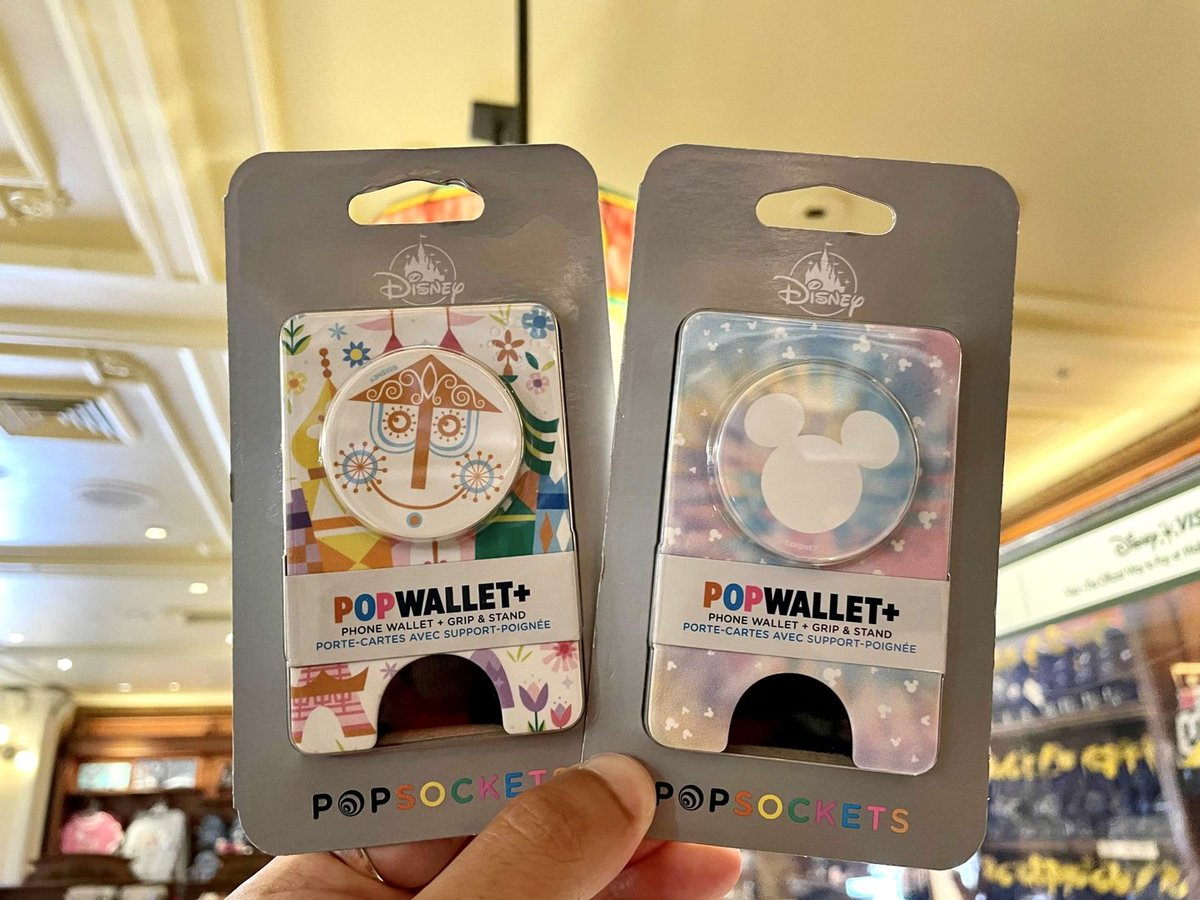 """PHOTOS: New """"it's a small world"""" and Tie-Dye Mickey Mouse PopSockets PopWallets Released at Walt Disney World"""
