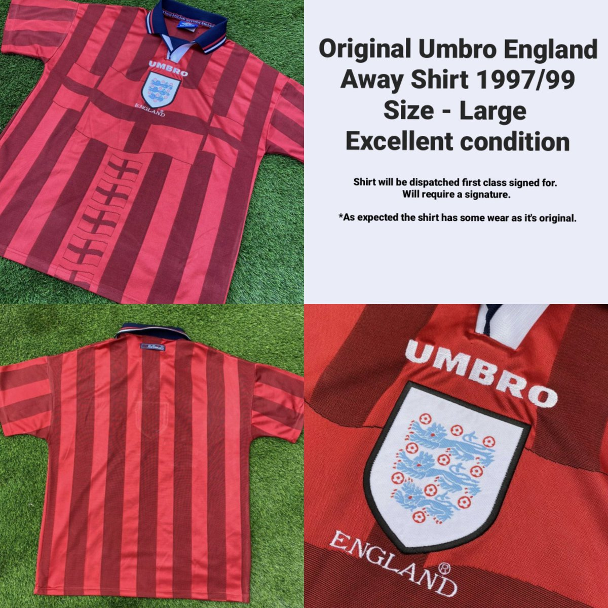 🚨 GIVEAWAY TIME 🚨  Who wants to be in with a chance to win a vintage 97/99 England Away shirt? All you have to do is; ❤ Like 👤 Follow 🔄 Retweet  A random follower who liked & retweeted this post will be selected during half time of 🏴 v 🇵🇱 on 31/03/21  #Giveaway #threelions